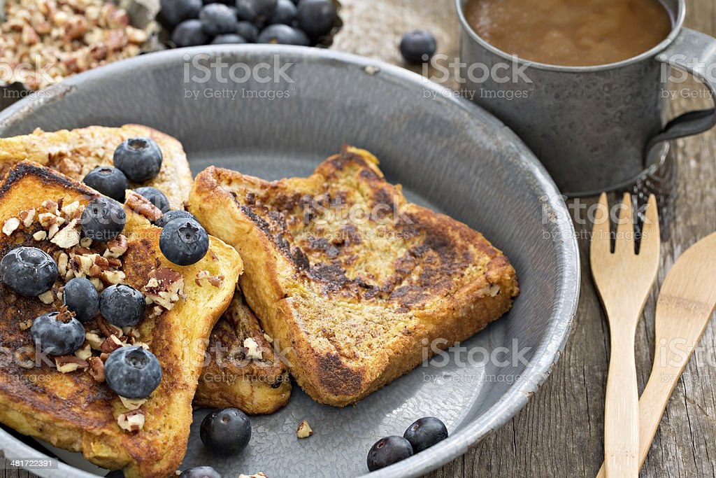 French Toast And Coffee stock photo