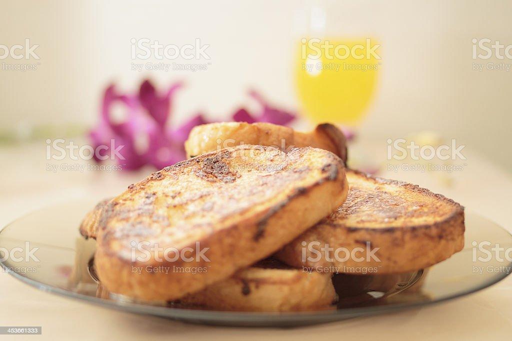 French toast and orange juice royalty-free stock photo