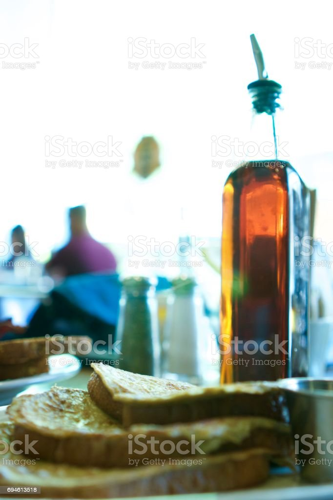 French Toast and Syrup stock photo