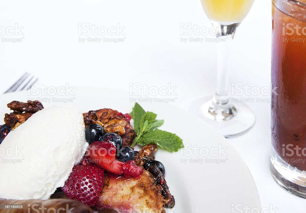 French toast breafast stock photo