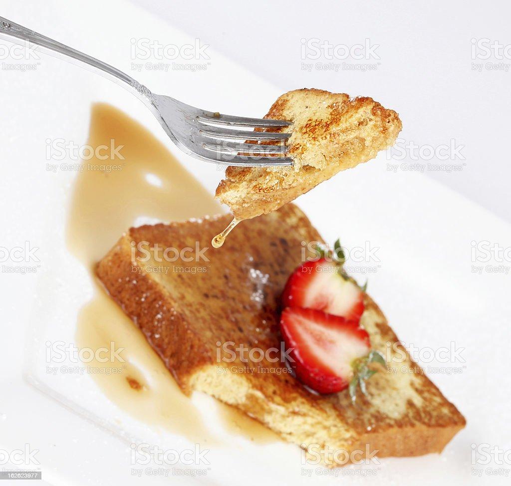 French toast drip royalty-free stock photo