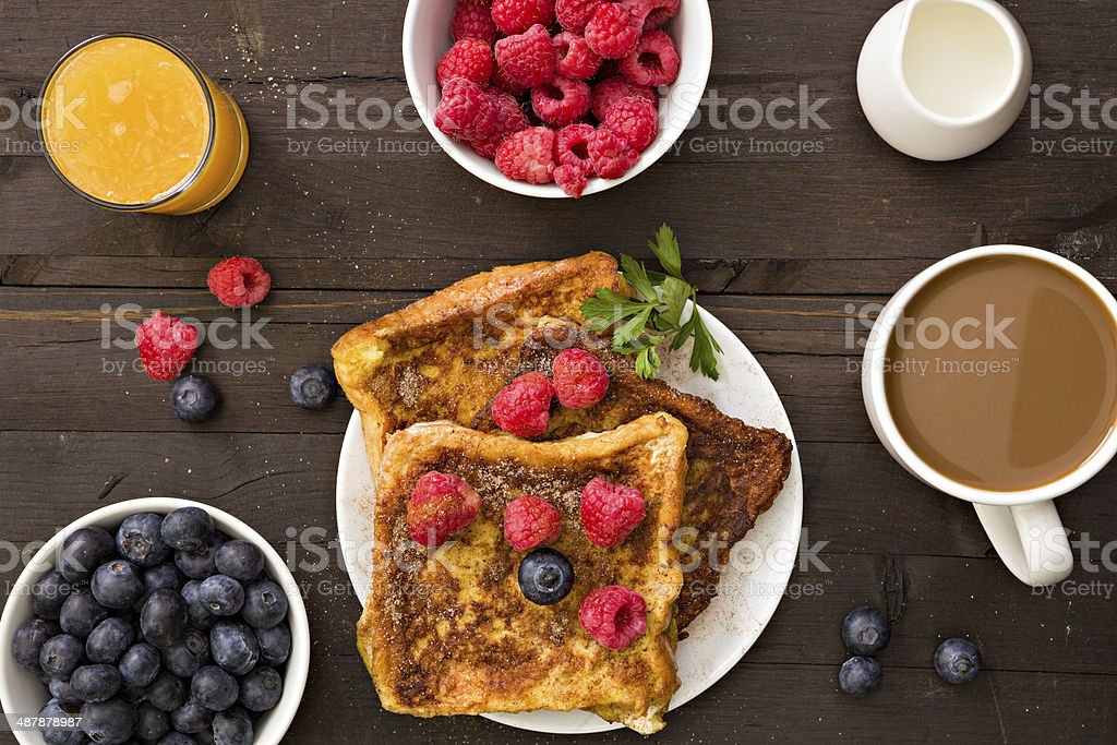 French Toast For Breakfast stock photo