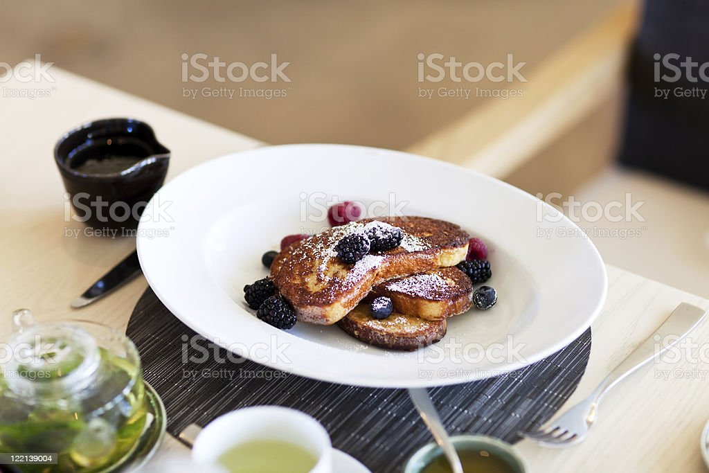 french toast on a plate royalty-free stock photo