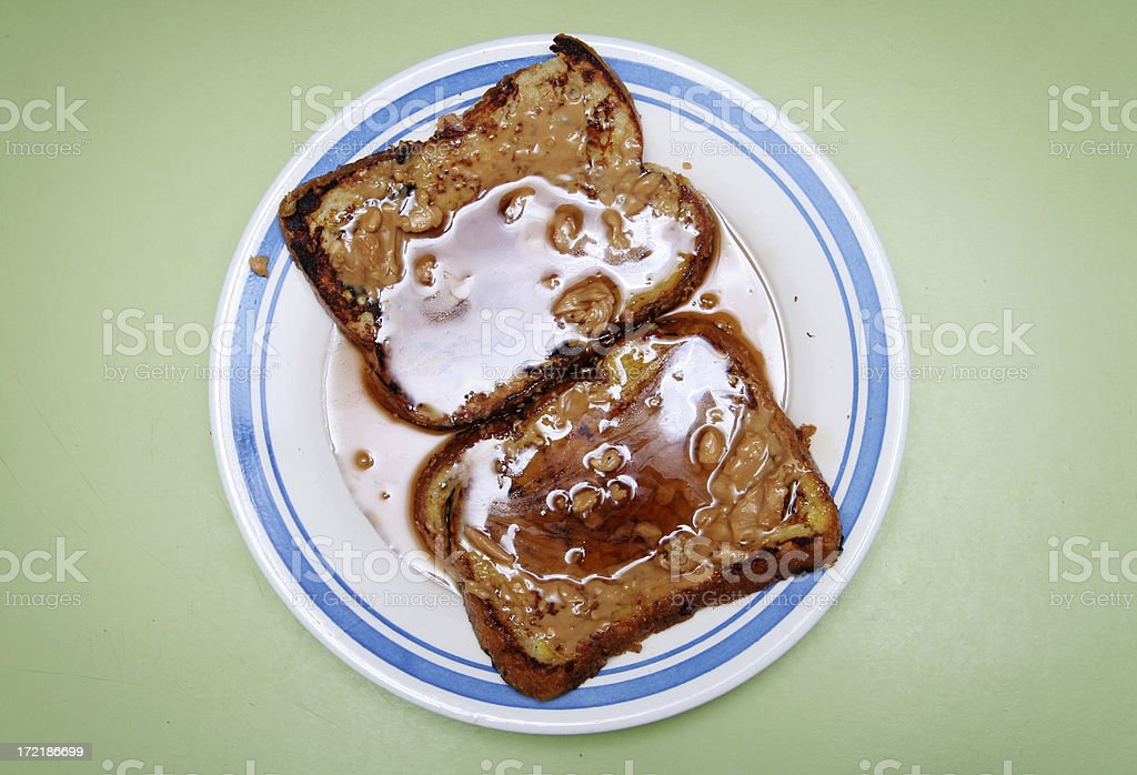 French Toast Overhead View with Copy Space stock photo