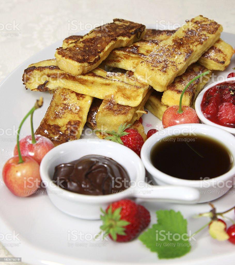 French toast sticks stock photo