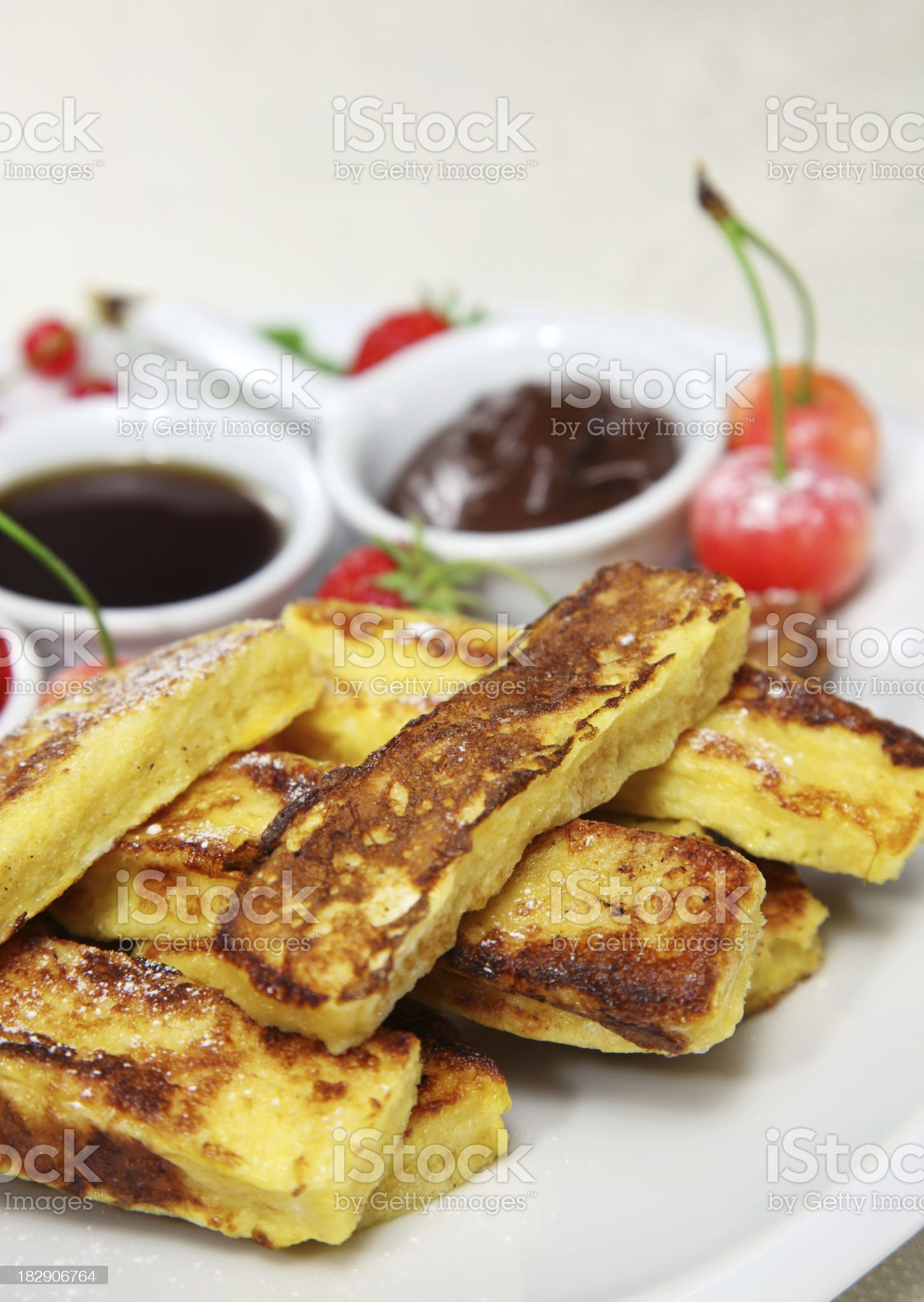 French toast sticks royalty-free stock photo