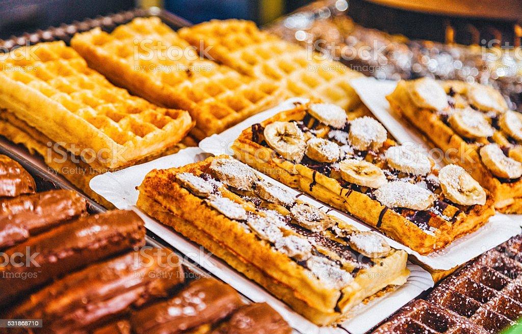 French Toast Waffles stock photo