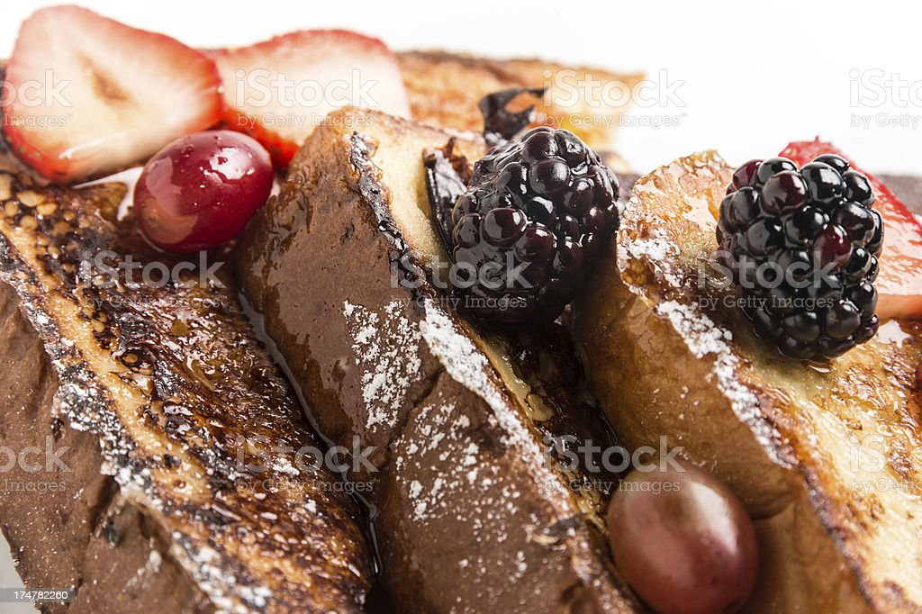 French Toast with Berries royalty-free stock photo