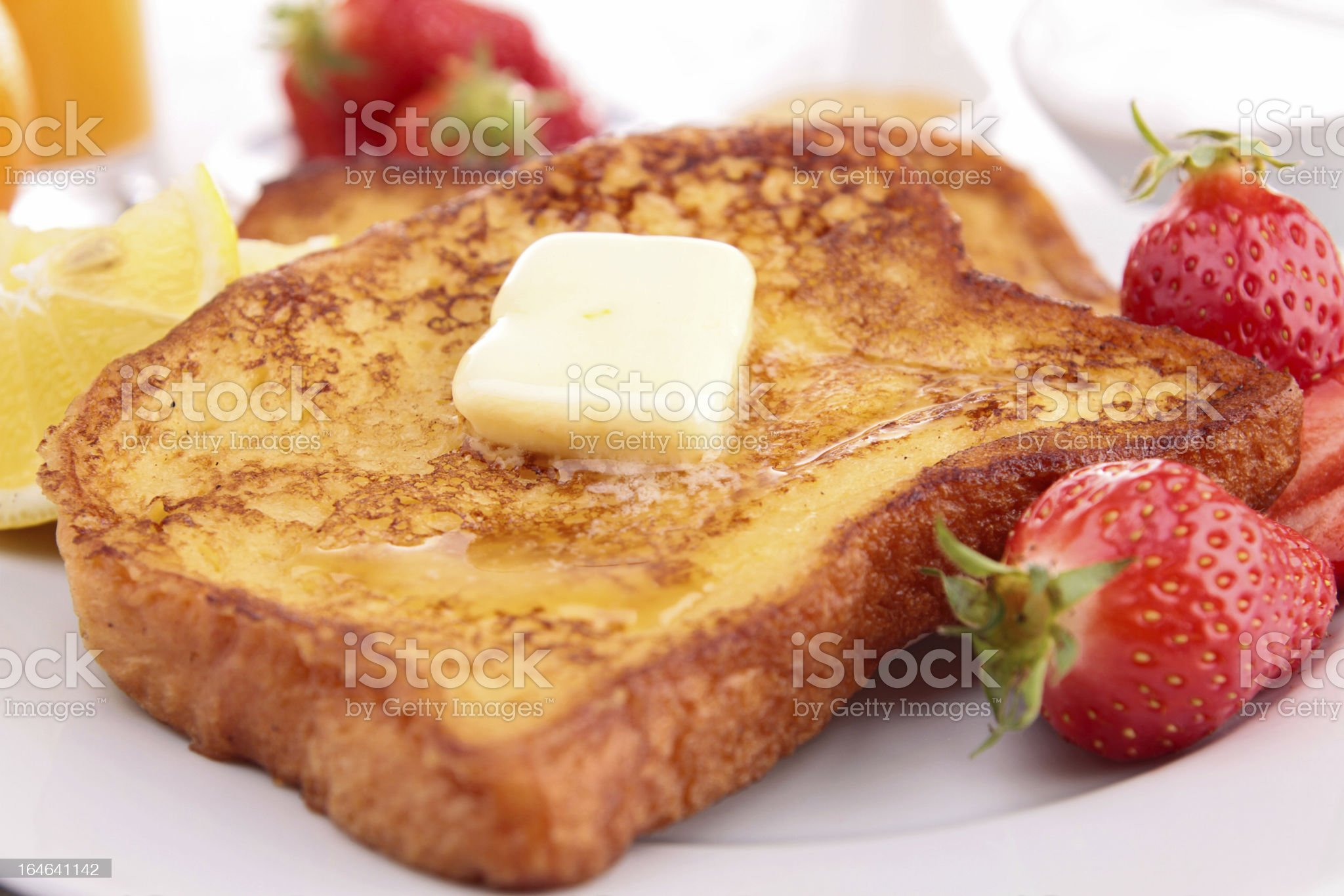 french toast with fruits royalty-free stock photo