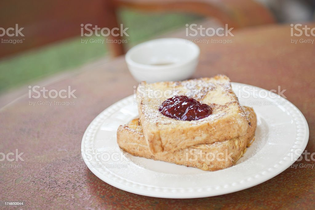 French Toast with Jam royalty-free stock photo