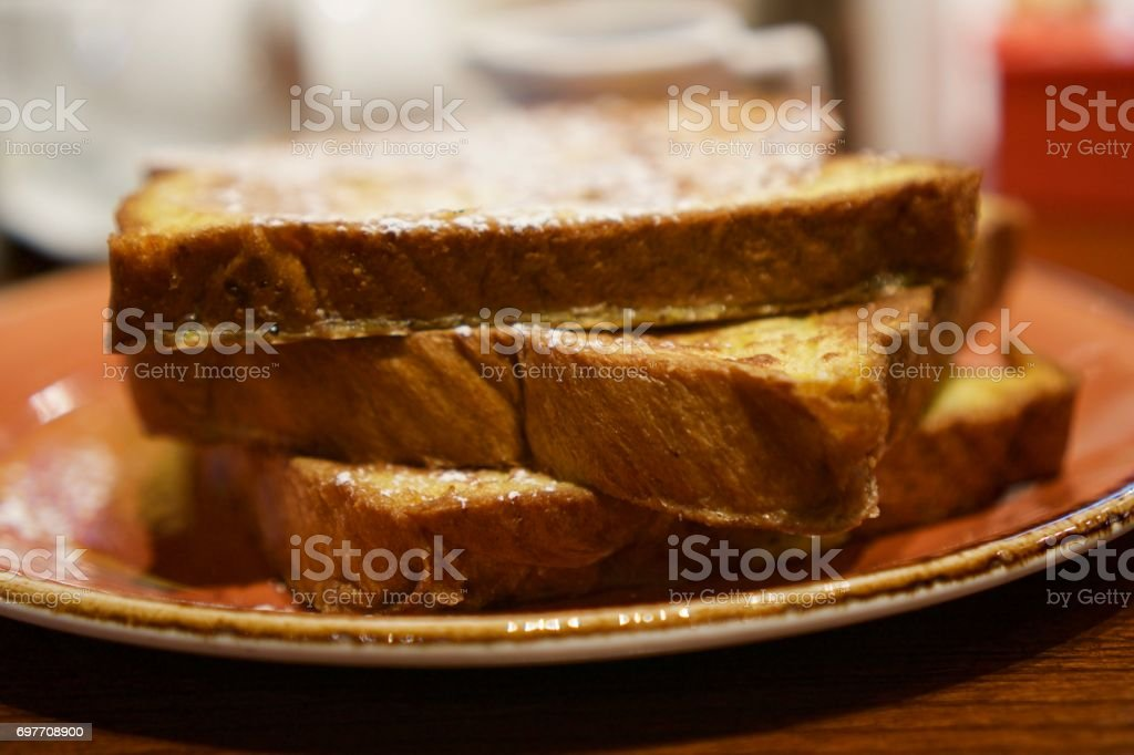 French Toast with Powdered Sugar stock photo