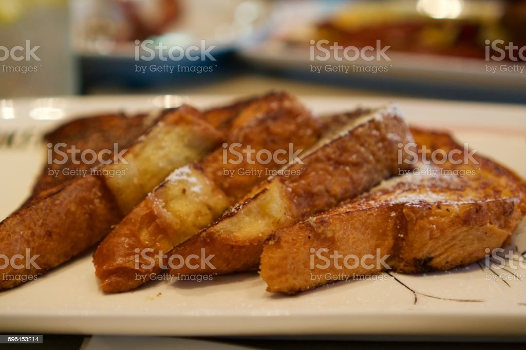 French Toast with Syrup stock photo