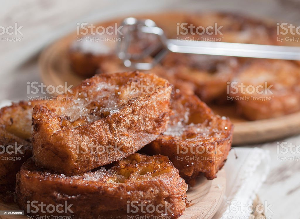 French toasts stock photo