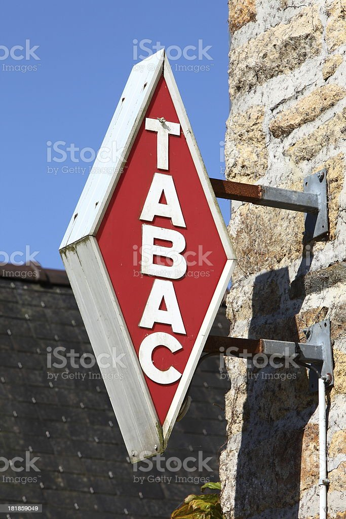 French tobacco sign royalty-free stock photo