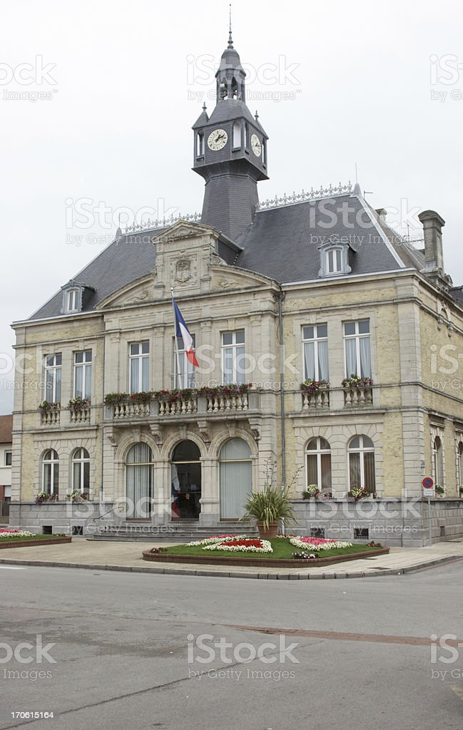 French town hall stock photo