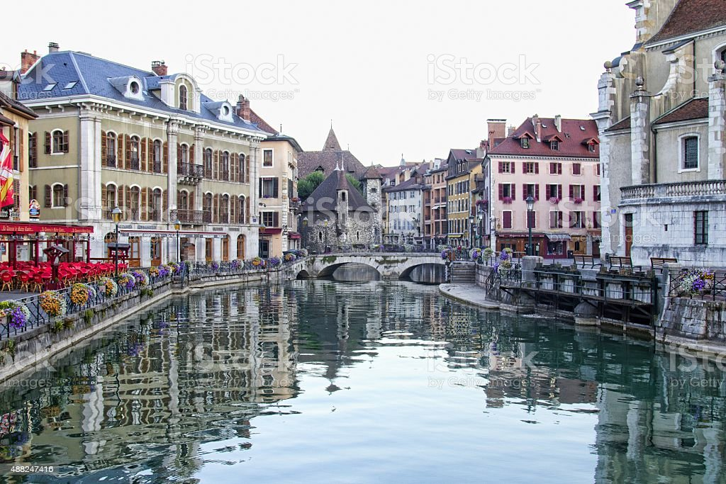 French town of Annecy stock photo