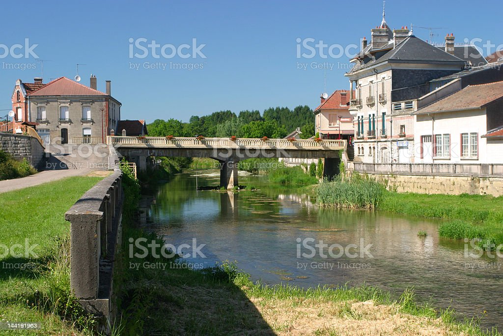 french town stock photo