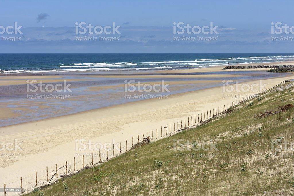 French travel destination: Cote d'Argent, Beach of Mimizan Plage stock photo