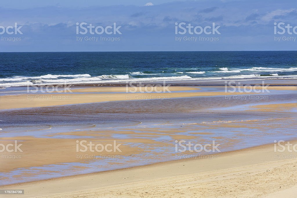 French travel destination: Cote d'Argent, Beach of Mimizan Plage royalty-free stock photo