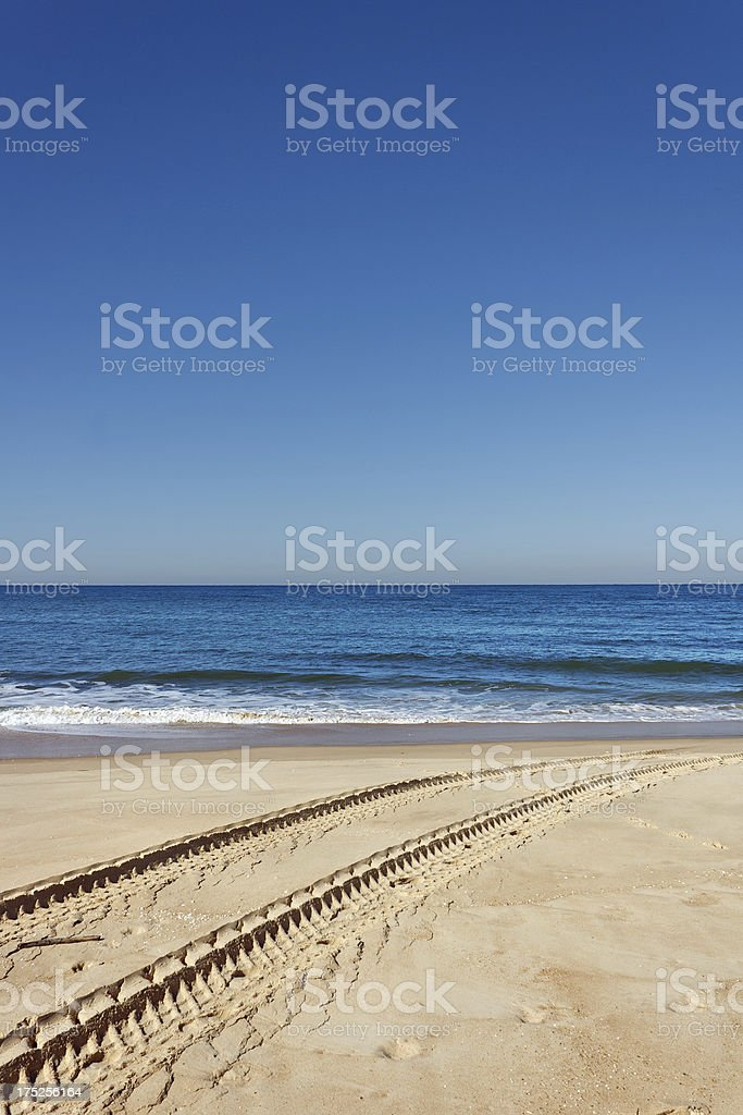 French travel destination: Cote d'Argent, Beach of Mimizan Plage stock photo
