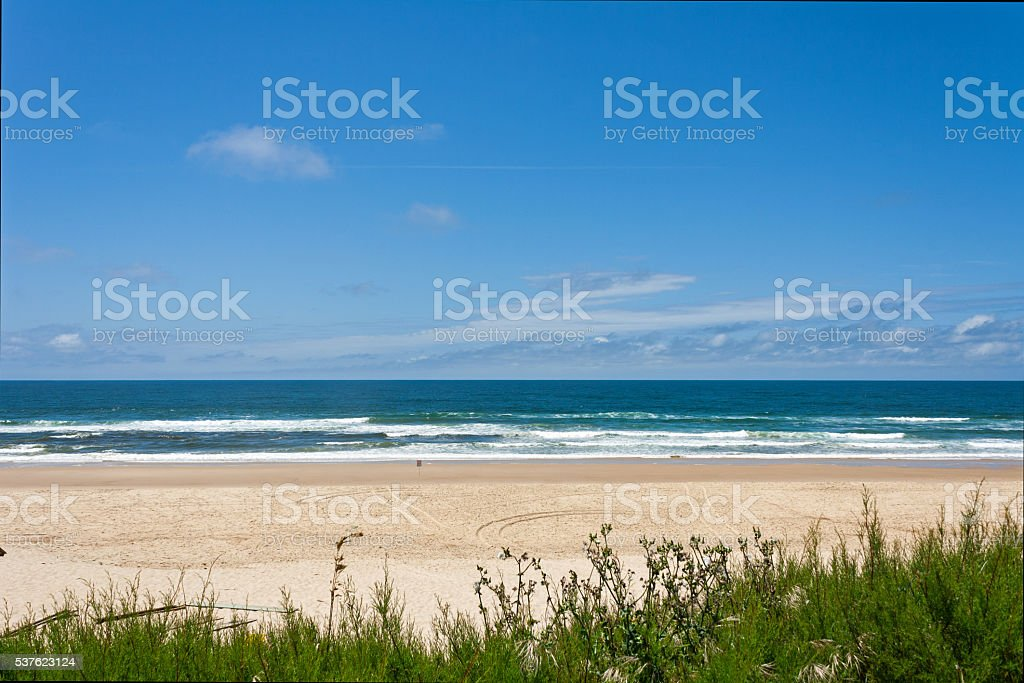 French travel destination - Cote d'Argent, beach of Mimizan Plage stock photo