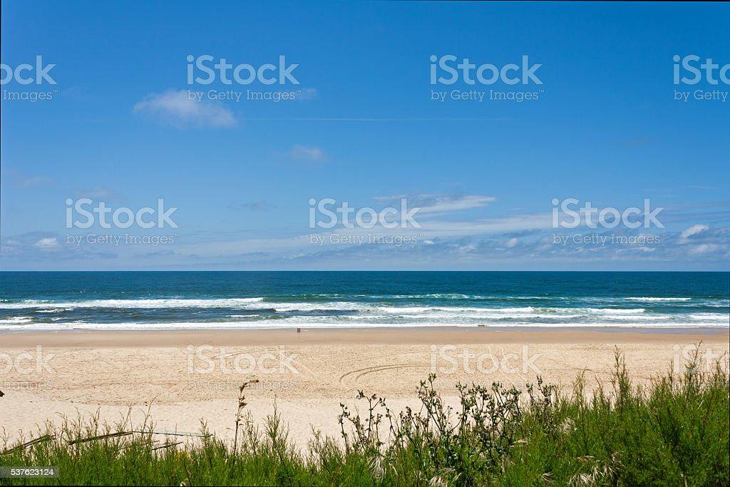 French travel destination - Cote d'Argent, beach of Mimizan Plage stock photo