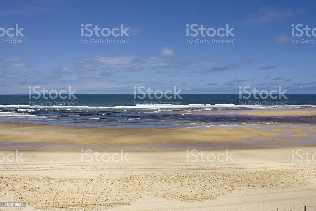 French travel destination on the Cote d'Argent: Mimizan Plage stock photo