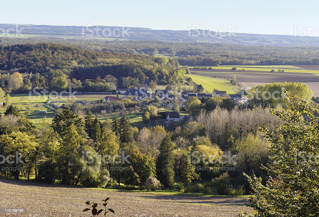 French village Craonne and surrounding,Picardy,France stock photo