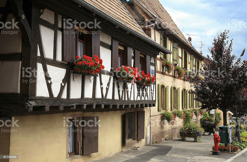 French village in champagne region, Alsace, France royalty-free stock photo