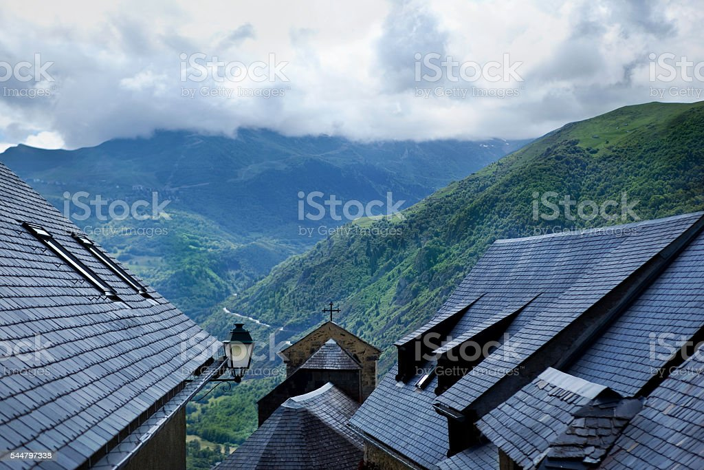 French village in the mountains stock photo