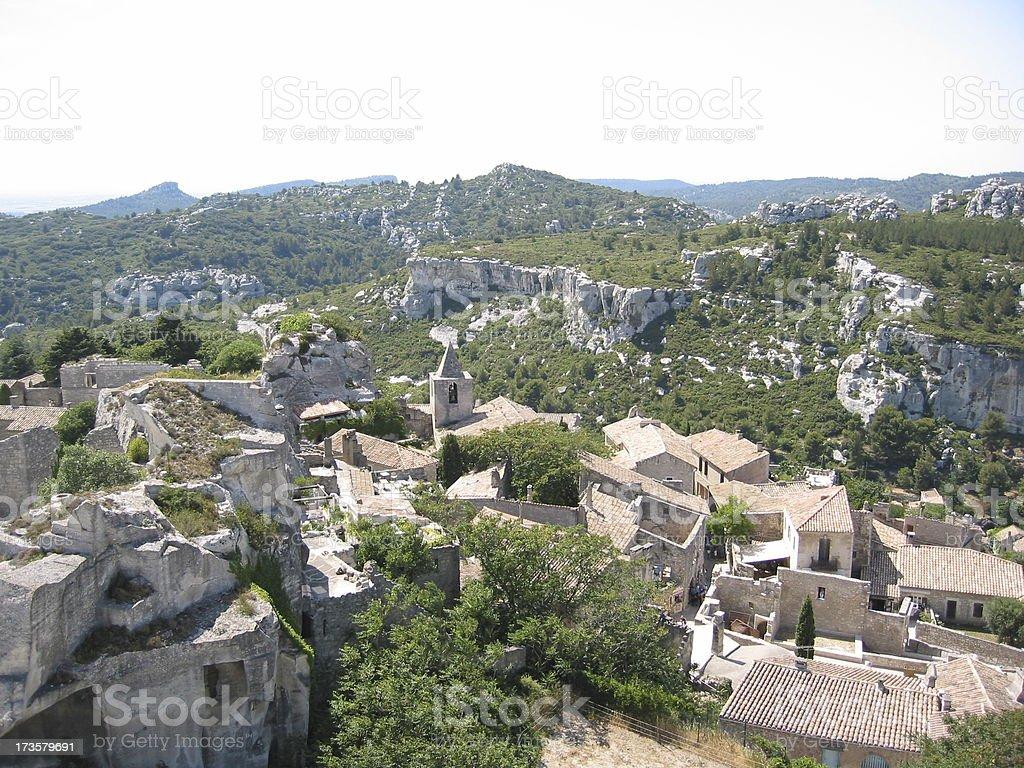 French village Les Baux de Provence stock photo