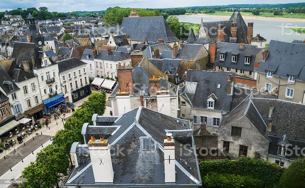 French Village Overlook stock photo