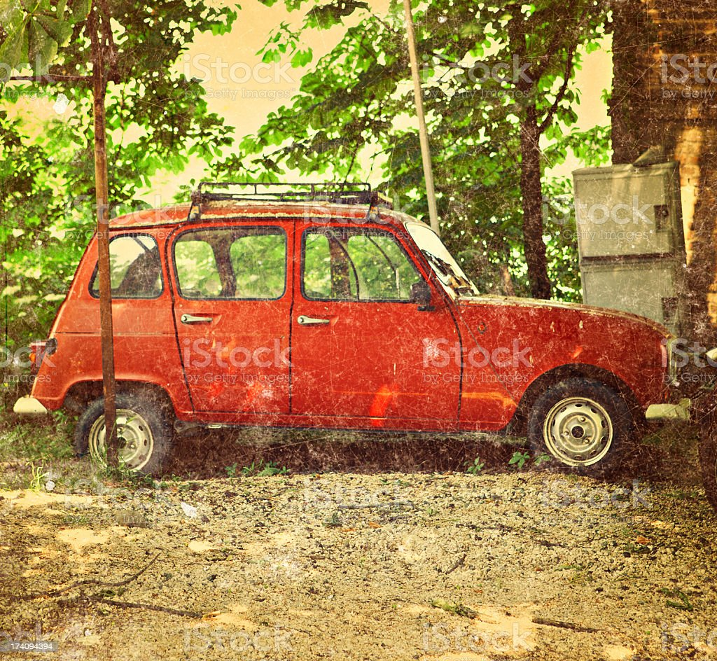 french vintage car stock photo