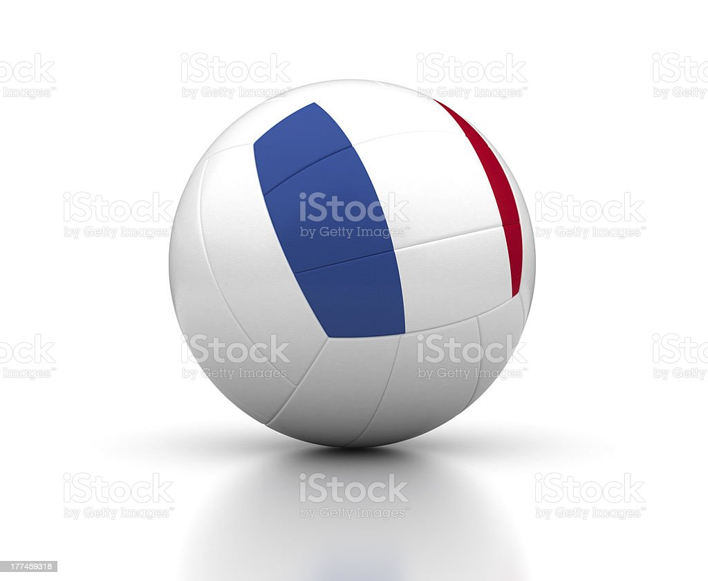 French Volleyball Team royalty-free stock photo