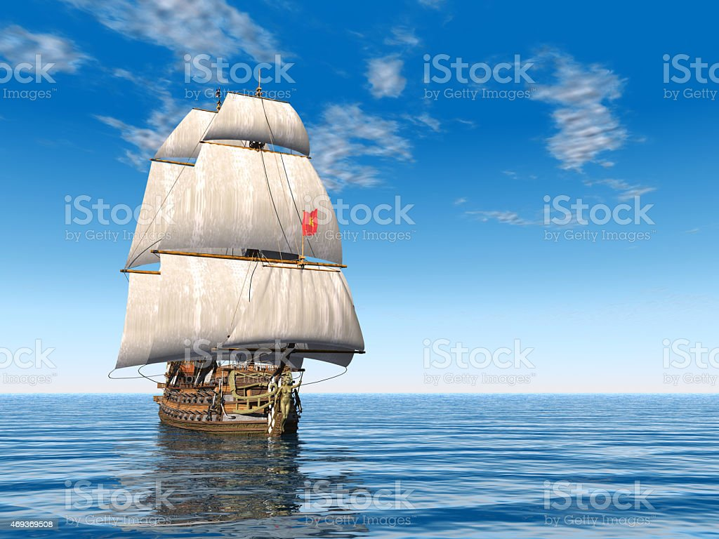 French Warship stock photo