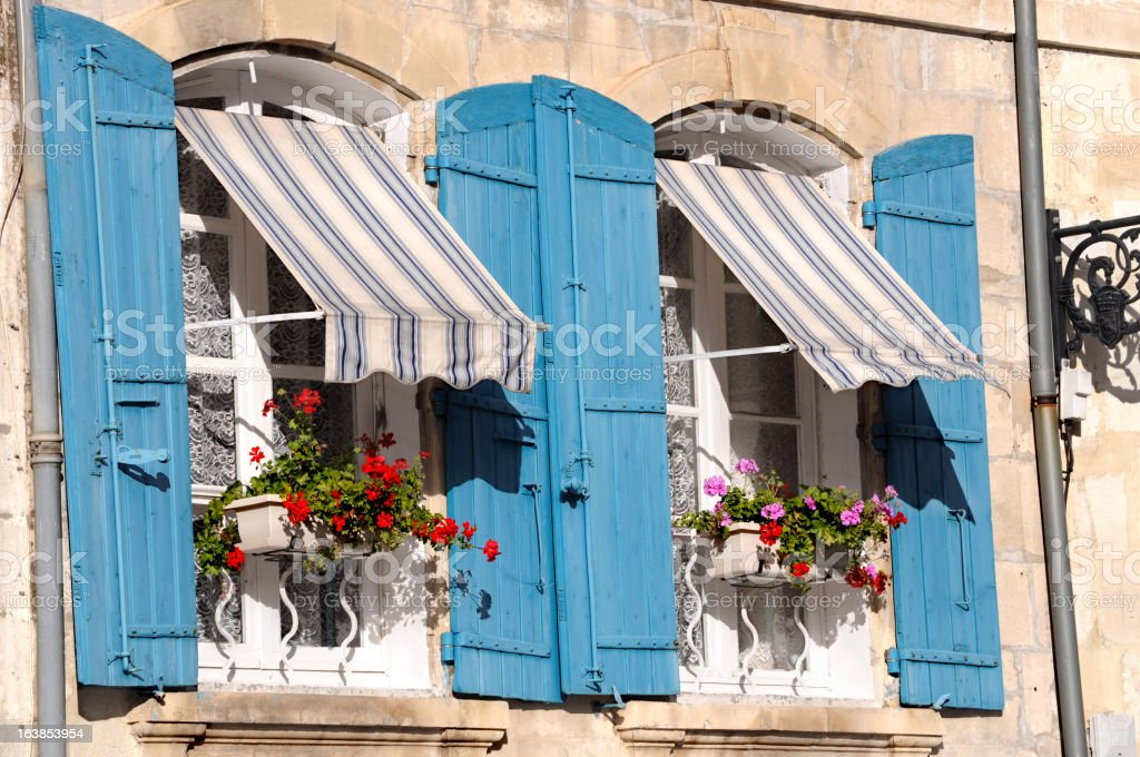 French window in South of France royalty-free stock photo