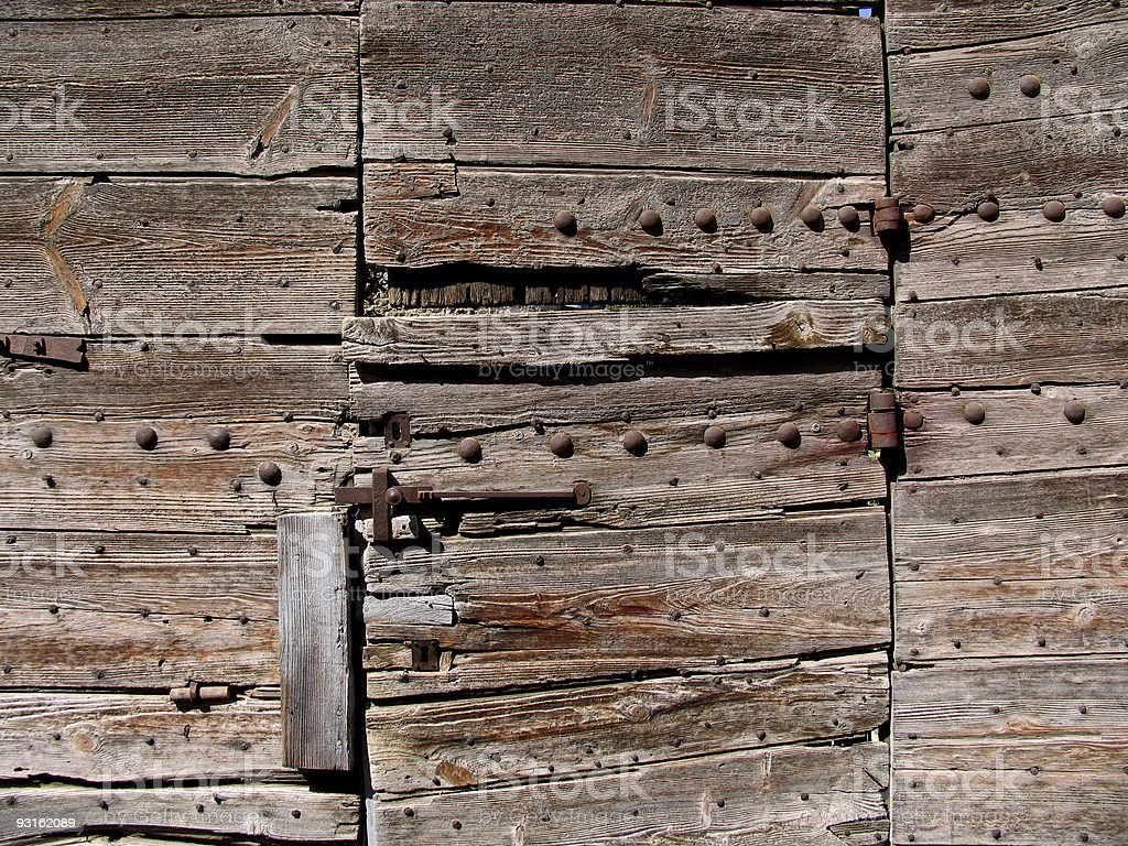 French wooden door royalty-free stock photo
