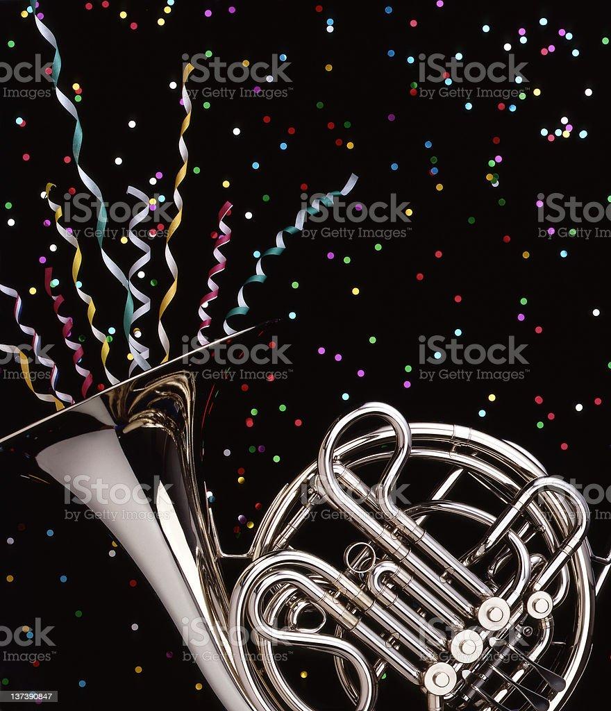 French_Horn_Celebration stock photo
