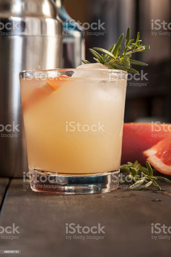 Frenchie cocktail stock photo