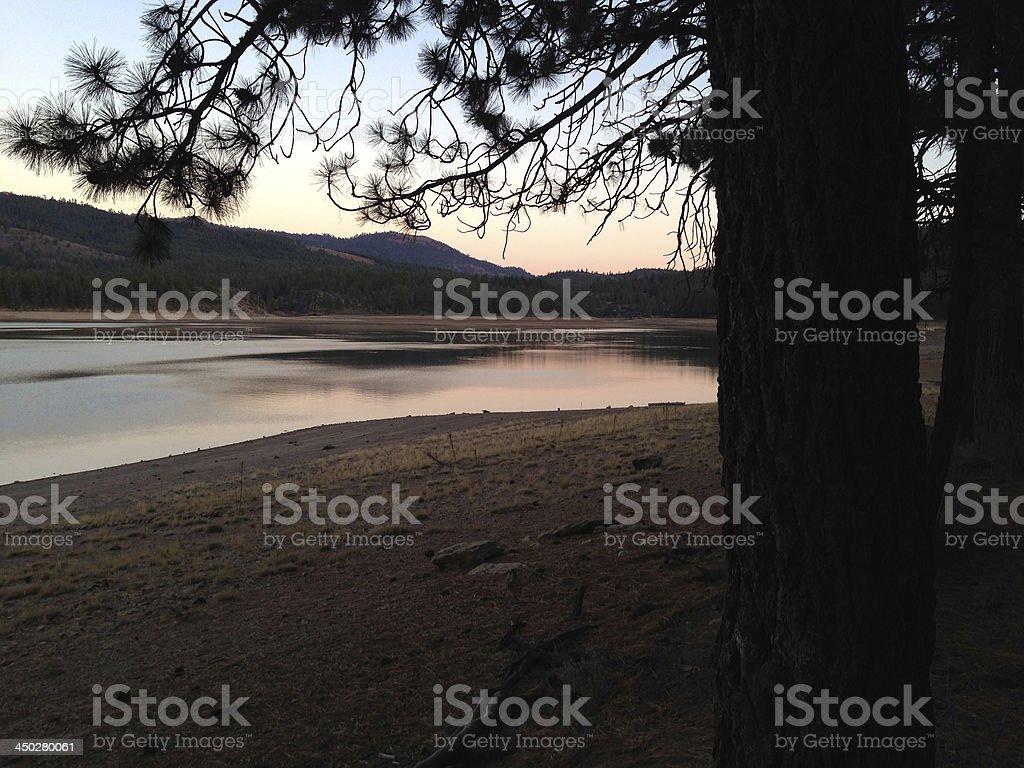 Frenchman Lake at Dusk royalty-free stock photo