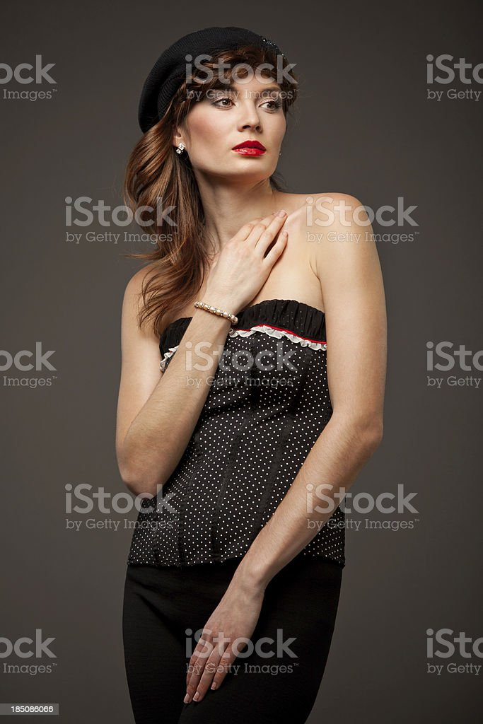 Frenchwoman portrait royalty-free stock photo