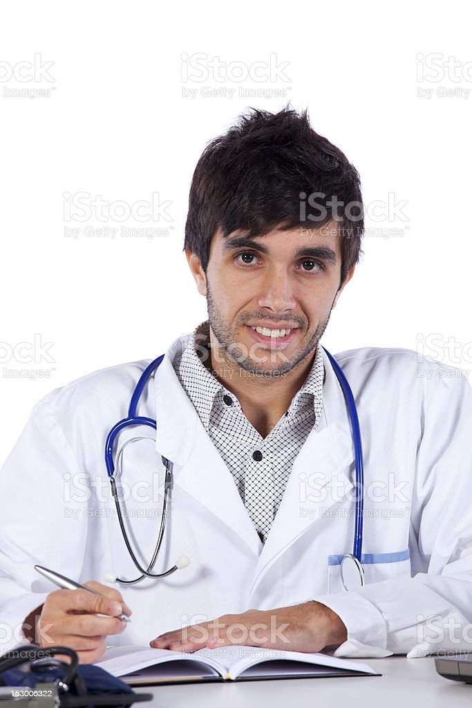 frendly young doctor at his office royalty-free stock photo