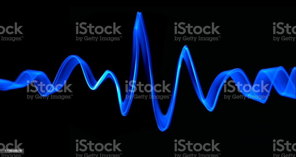 Frequency of Blue stock photo