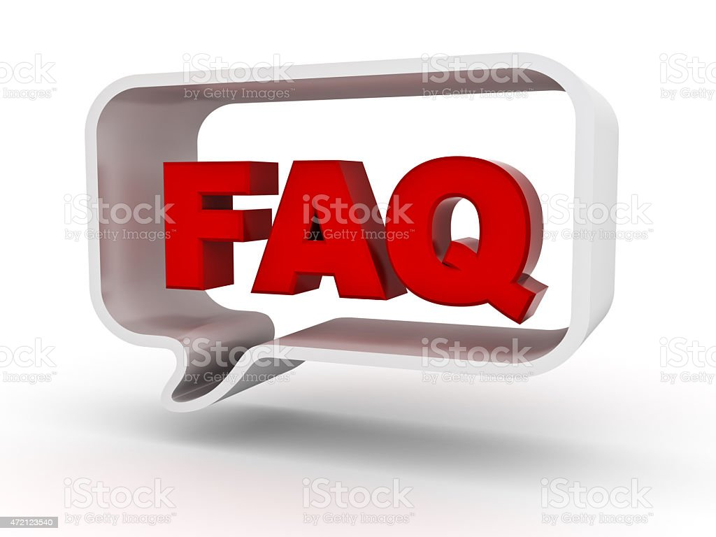 Frequently ask question stock photo
