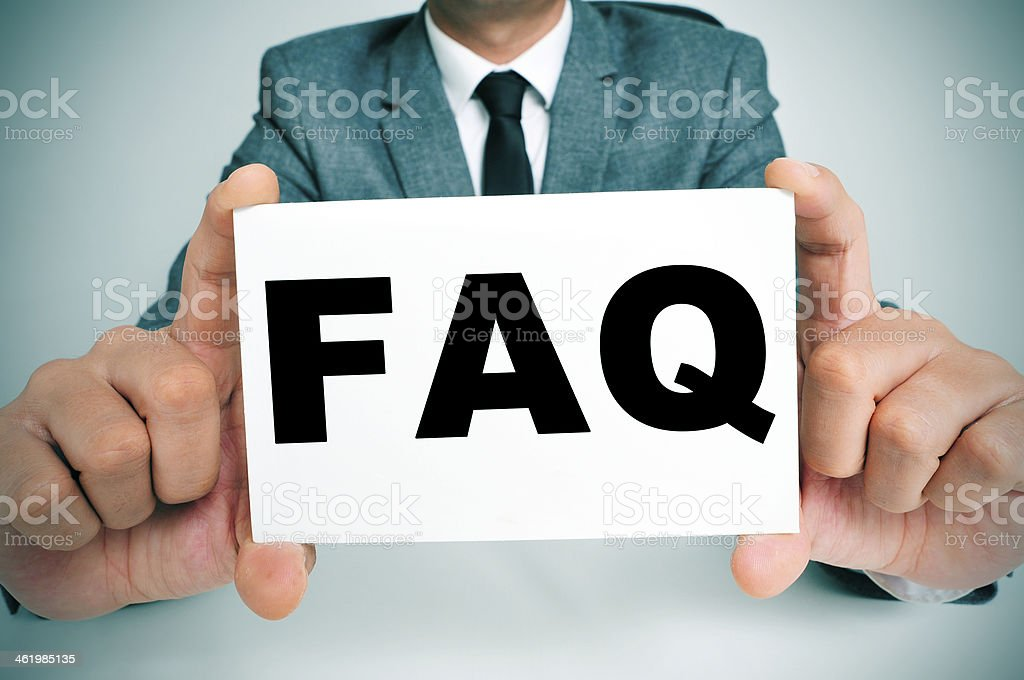 FAQ, Frequently Asked Questions royalty-free stock photo