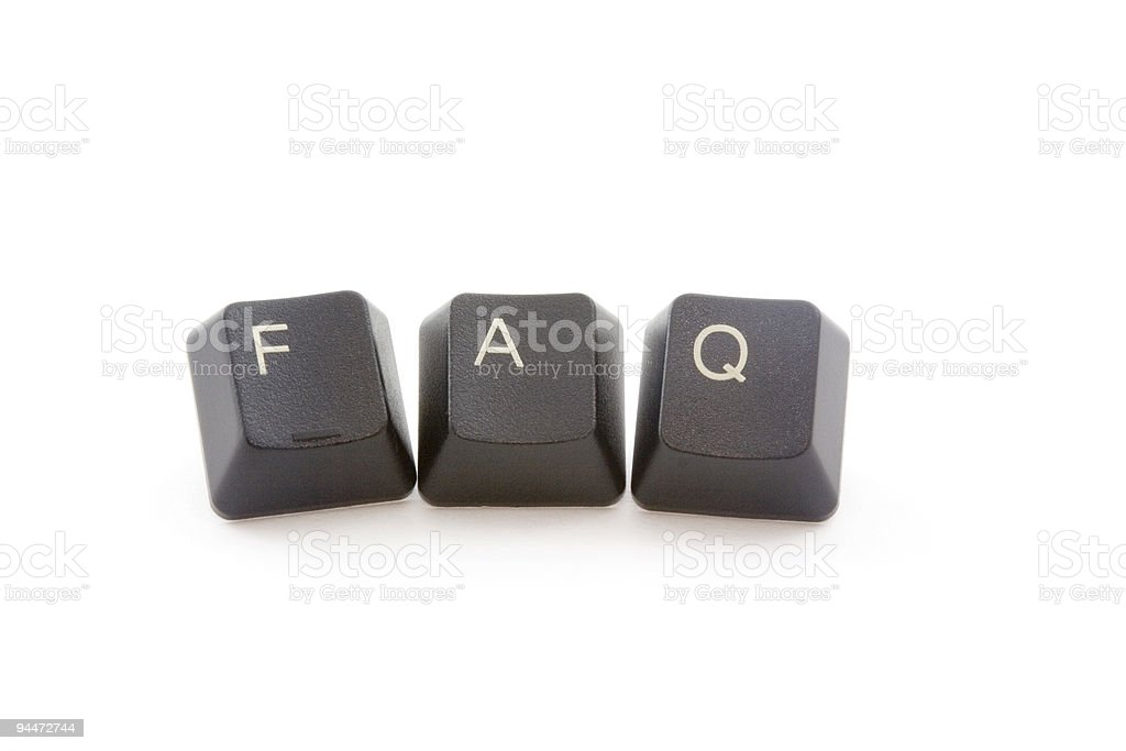 Frequently asked questons royalty-free stock photo