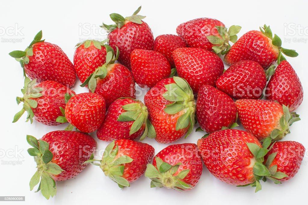 fresas sobre Fondo Blanco photo libre de droits