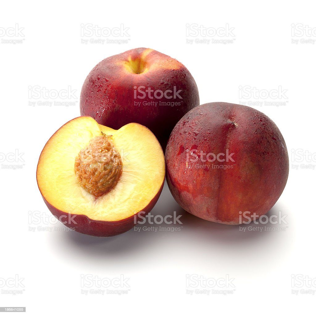 Fresch peach fruits stock photo