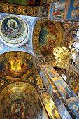 Fresco inside the Savior on Spilled Blood Cathedral
