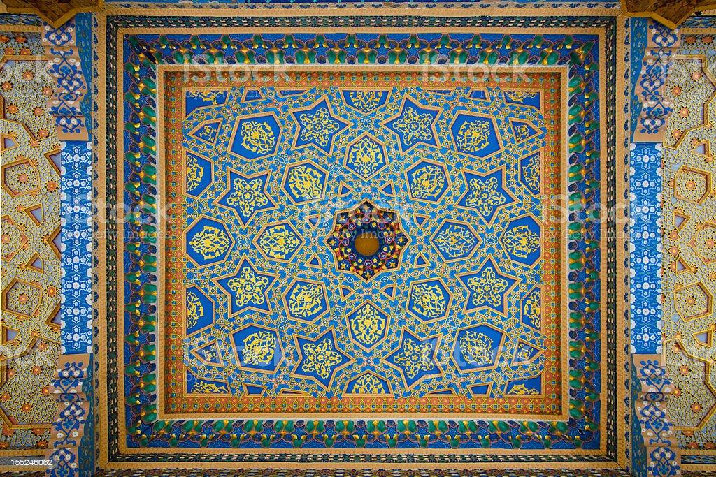 Fresco on Mosque Ceiling royalty-free stock photo